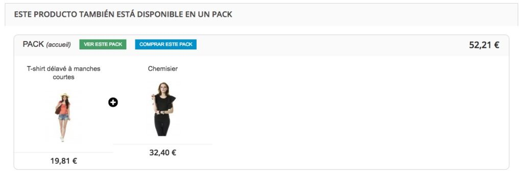 Comprar este pack on