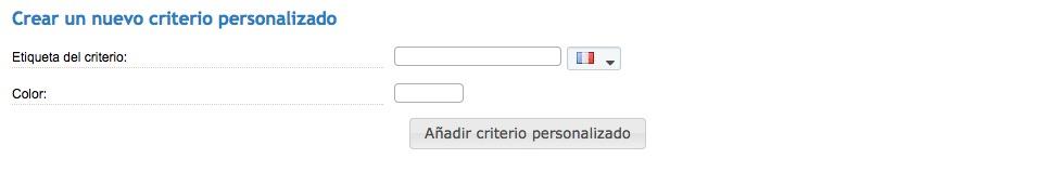 Crear un nuevo criterio personalizado
