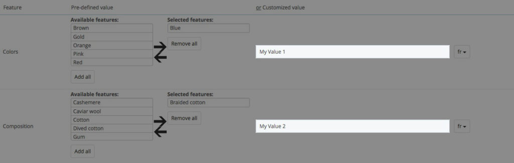 Customized-Values